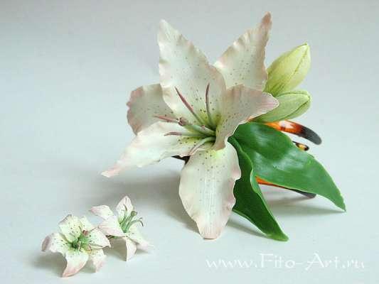 handmade_ru: Украшения с лилиями.