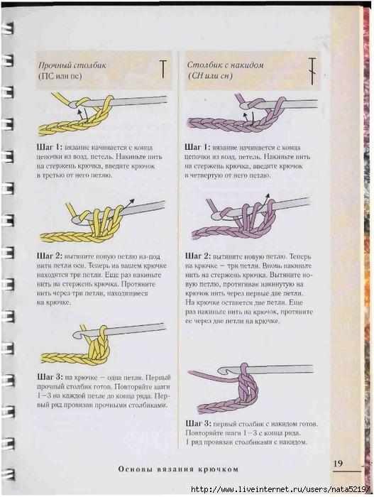 Плотное вязание выйдет, если взять к толстым ниткам тонкий крючок.