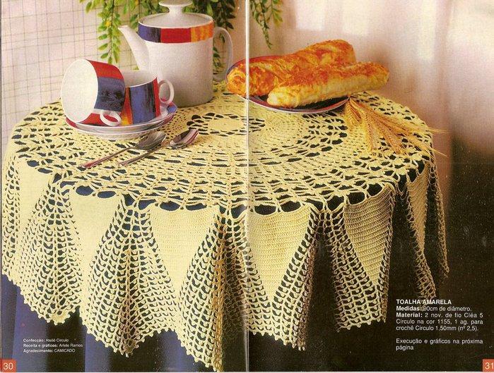 схемы для вязание крючком скатерти. крючком маленькая скатерть и салфетки.