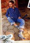 Вязаные носки для мужчин схема.