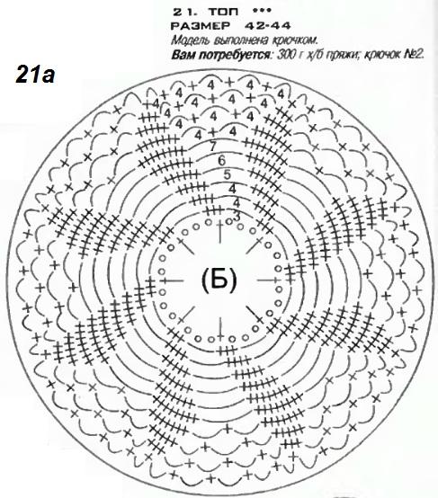 летние топы вязанные крючком со схемами.