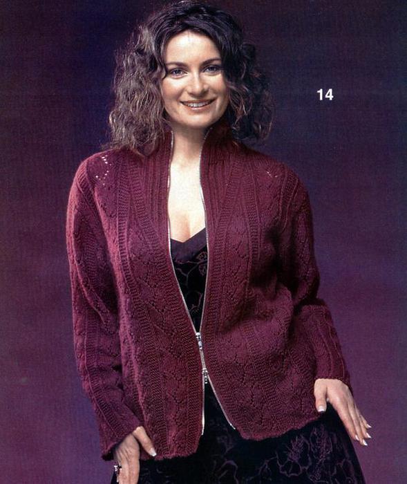 Комментарий: вязание схемы крючком кофты для полных женщин.
