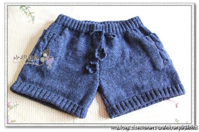 вязанные шорты спицами со схемой - Выкройки одежды для детей и взрослых.