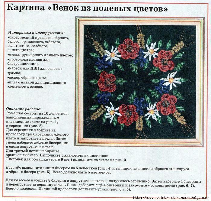 """Картина  """"Венок из полевых цветов """""""