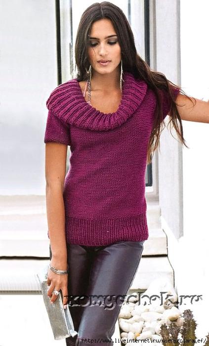 пуловеры, свитера вязаные спицами.