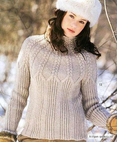 зимние вязаные кофты, схемы вязания спицами свитера и вязание свитера с...