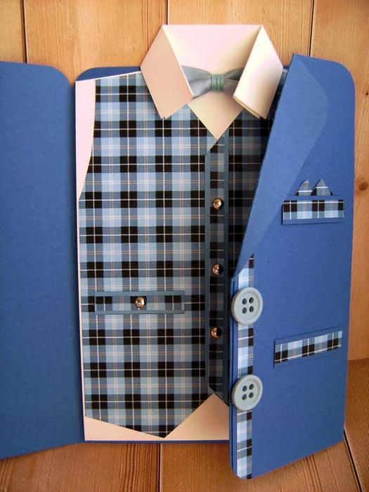 Мужская открытка своими руками в виде пиджака