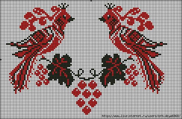 Вышивка крестом украинский рушник схемы вышивки 663