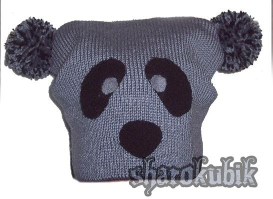 Теги. шапка в контакте.  Вязаная шапка панда. шапка панда спицами.