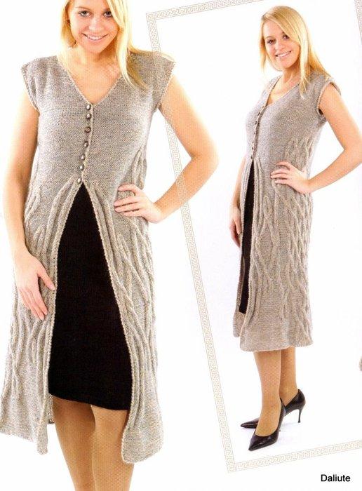 Вязание спицами.  Пальто, пончо и др.верхняя одежда.