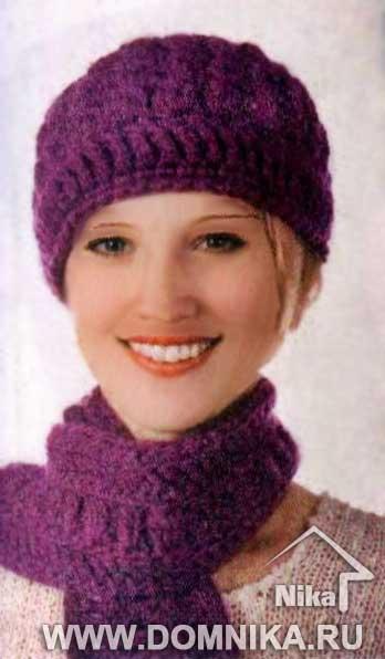 женская шапка крючком фото - Шапки.