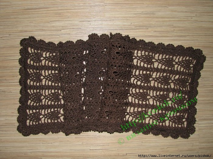 Hand Crocheted Scarf (Рука крючком шарф.