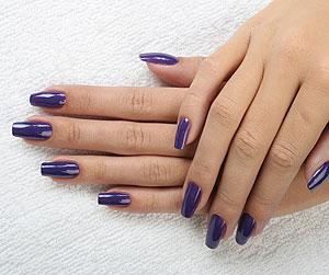 Мастер-класс по дизайну ногтей с использованием джинсовой ткани.