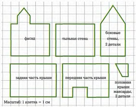 Округлые чешуйки черепицы укладывайте на крышу рядами снизу вверх.