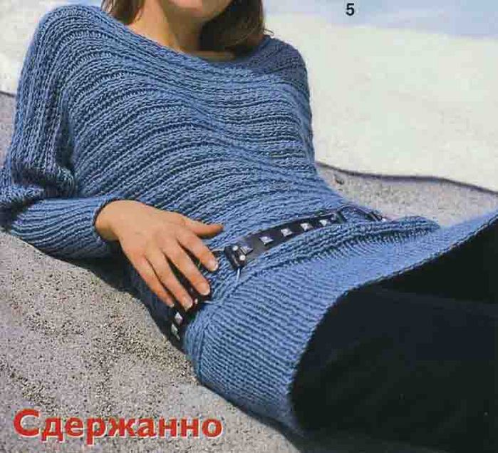 схемы вязания спицами свитера женские.