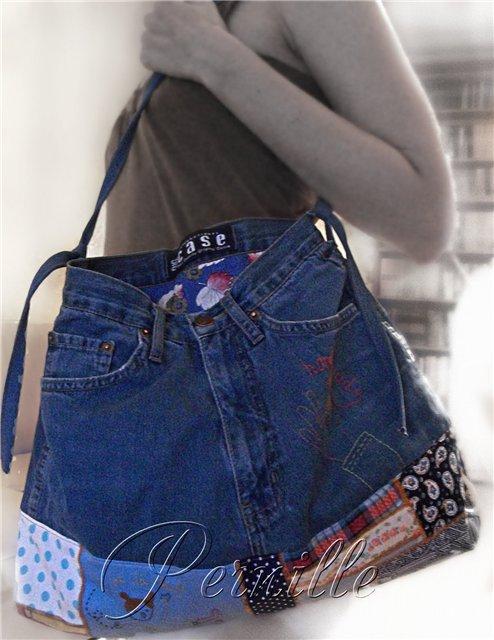 И немного расскажу и покажу, как я сшила себе сумку из старых джинсов.  Итак, имеются в наличие джинсы.