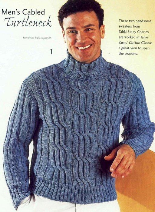 Вам потребуется для свитера мужского спицами.  По груди: 43(45, 47.5).