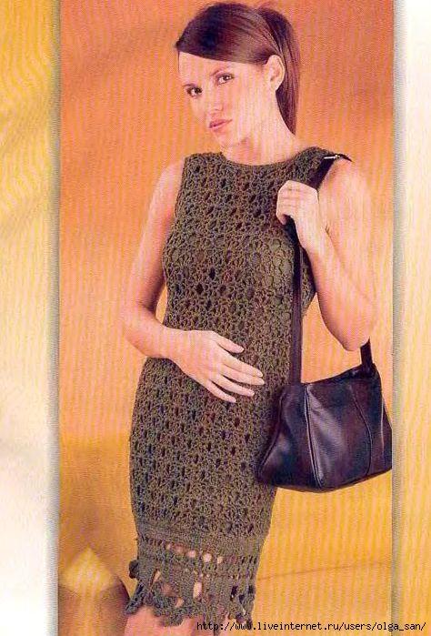 Журнал Вяжем крючком платье, сарафаны (2009)