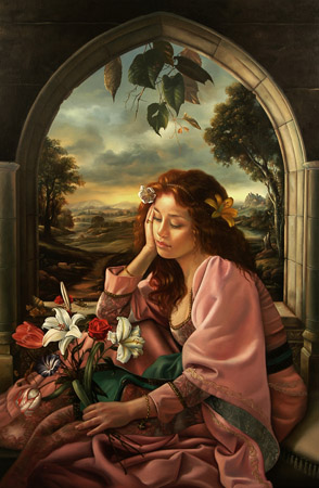 Girl at the Window худ. David M BOWERS (294x450, 49Kb)