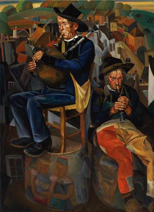 Крестьяне, играющие на дудках. 1920–1931 (508x700, 101Kb)