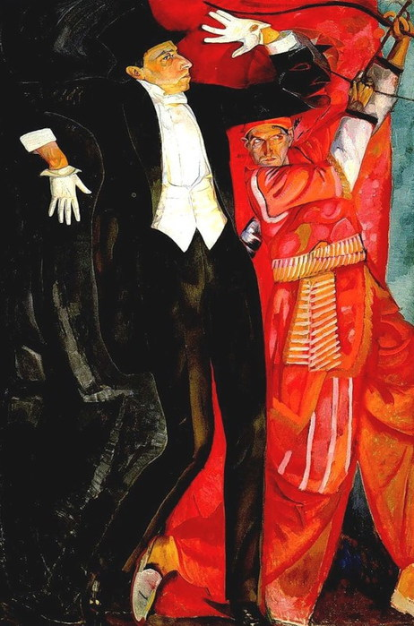Борис Григорьев. Портрет В.Э.Мейерхольда. 1916 (462x700, 100Kb)