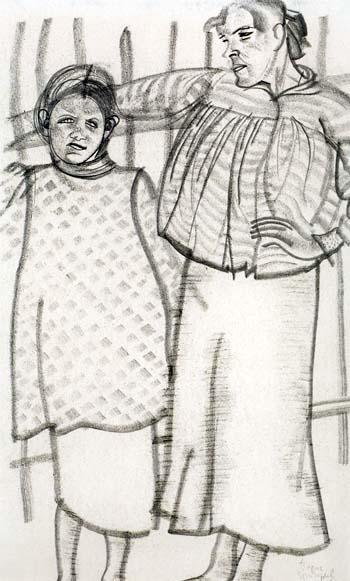 Две женские фигуры, 1917 (350x581, 62Kb)