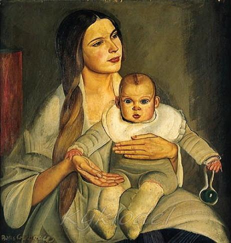 «Материнство (портрет Н.Пешковой)» (462x487, 79Kb)