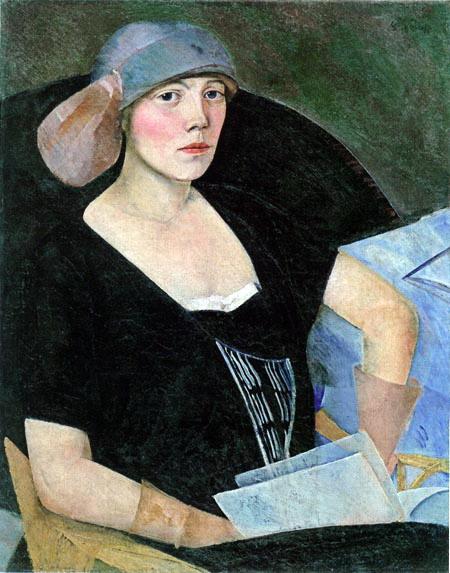 Женский портрет, 1921 (450x573, 96Kb)