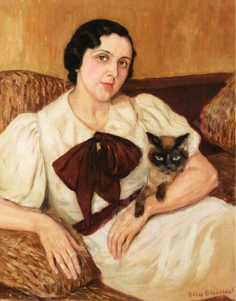 «Женщина с котом» (471x600, 83Kb)