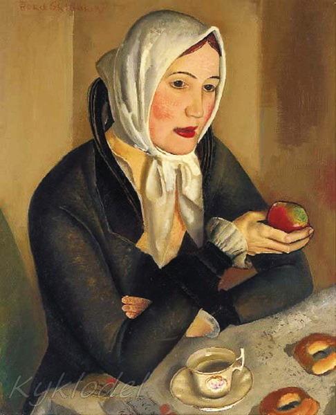Женщина с яблоком» (486x600, 74Kb)