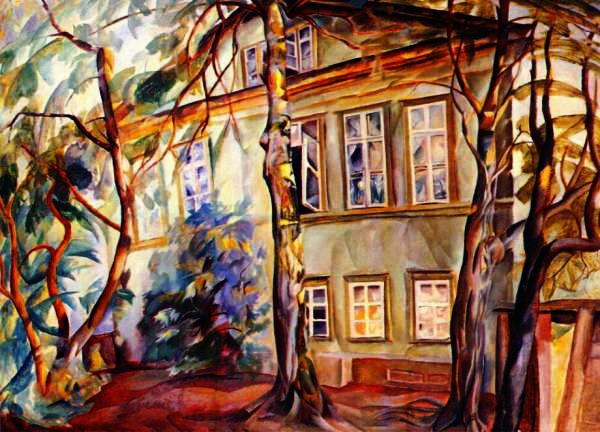 house under the trees - Григорьев Борис Дмитриевич (1886-1939) (600x432, 92Kb)
