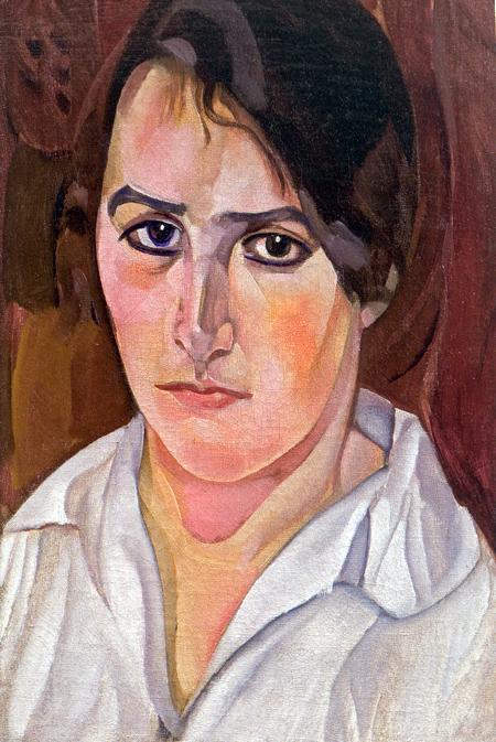 Портрет еврейской девушки, 1918 (450x673, 307Kb)