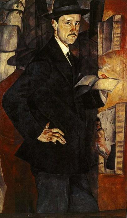 Портрет М.В.Добужинского. 1917 (407x700, 83Kb)