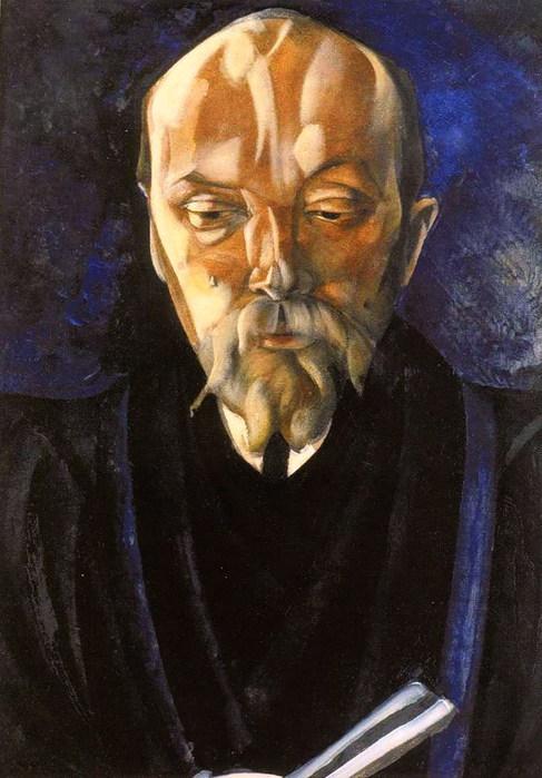 Портрет Н.К.Рериха. 1917 (487x700, 94Kb)