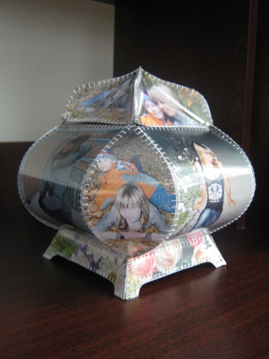 Как сделать вазу из открыток своими руками, для лотереи распечатать
