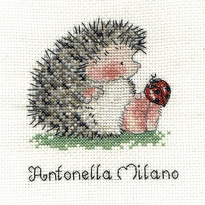 Hedgehogs with Ladybird (700x700, 299Kb)