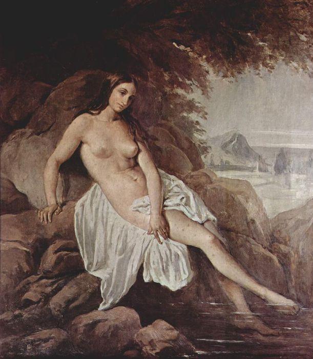 Francesco Hayez 005 - Badende 1832 Купальщица (611x700, 71Kb)