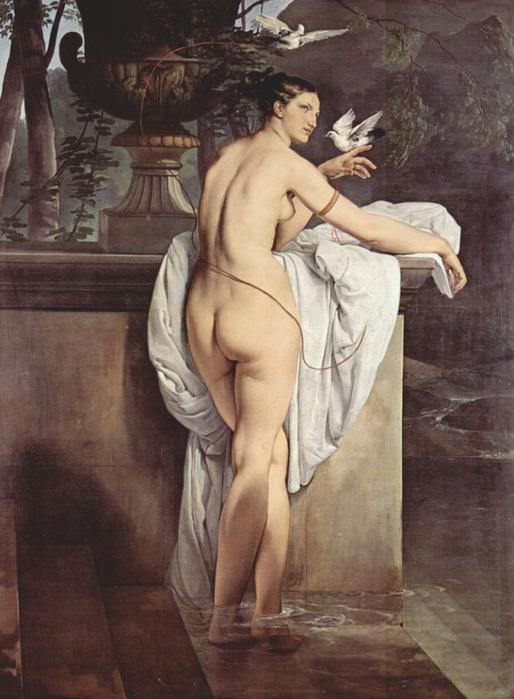 Francesco Hayez 006 - Ballerina Carlotta Chabert as Venus 1830 Портрет балерины Карлотты Шабер в виде Венеры (Венера с двумя голубками) (514x700, 109Kb)