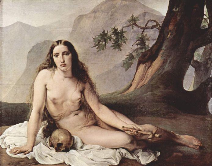Francesco Hayez 008 - Basende Maria Magdalena 1825 Кающаяся Мария Магдалина (694x545, 64Kb)