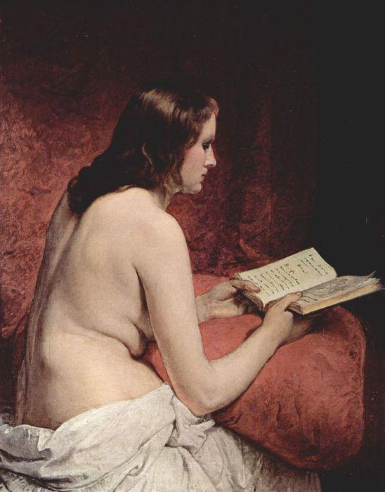 Francesco Hayez 025 - Odalisque with Book (Одалиска с книгой) 1866 (548x700, 51Kb)