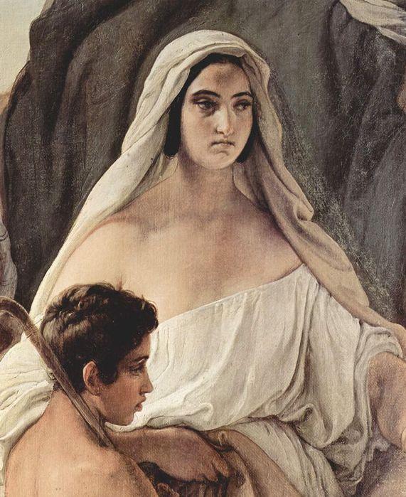 Francesco Hayez 044 - Zusammentreffen von Jakob und Esau 1844 Встреча Иакова и Исава. Фрагмент (571x700, 85Kb)