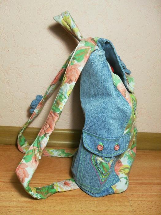 Шьём рюкзак из кожи мастер класс поделка #12