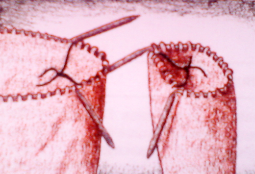 круговое вязание рукава