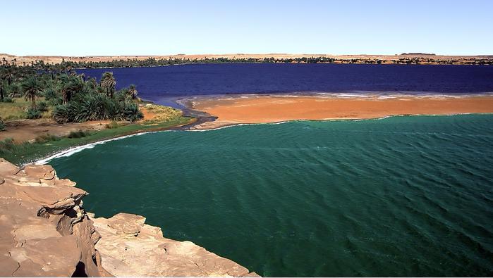 Система озер Унианга, Чад, Сахара, 1998 г. (700x395, 327Kb)