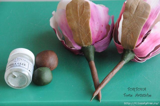 Gumpaste Magnolia Tutorial19 (640x425, 120Kb)