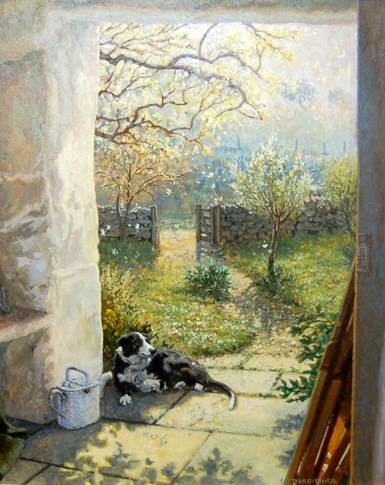 Stephen Darbishire 1940 - British Interiors and Landscape painter - 32 (556x700, 326Kb)