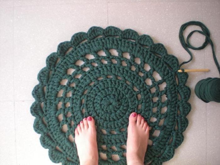 Японское вязание ковриков мастер класс пошагово #8