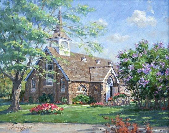 Kathleen Chaney Fritz Little Stone Church (547x432, 63Kb)