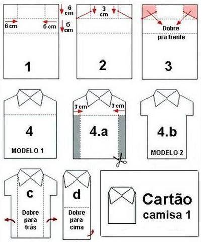 Сделать, шаблон открытки в виде рубашки