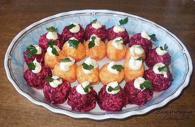 Шарики из свеклы и моркови рецепт с фото